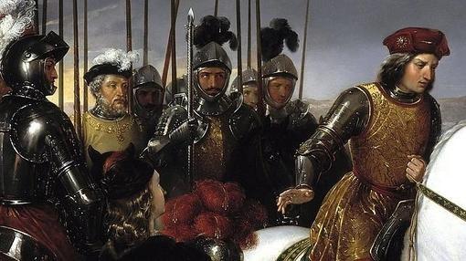 El Gran Capitán y sus oficiales más cercanos en la batalla de Ceriñola- Museo del Prado