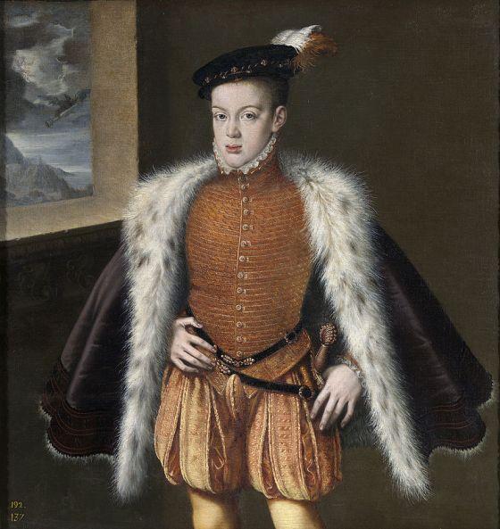 Retrato del príncipe de Asturias Carlos de Austria, que fue el hijo primogénito del rey Felipe II de España y de la reina María Manuela de Portugal, primera esposa de Felipe II.