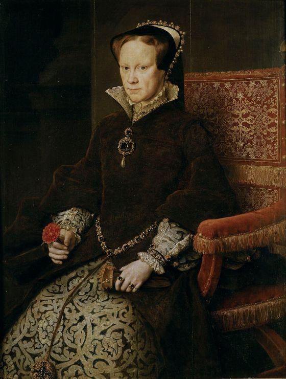 Retrato de María Tudor pintado por Antonio Moro- Museo del Prado