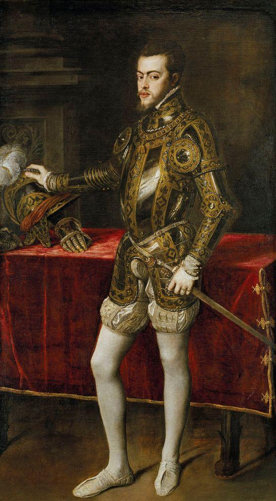 Felipe, príncipe de Asturias, por Tiziano (1551).- Museo del Prado