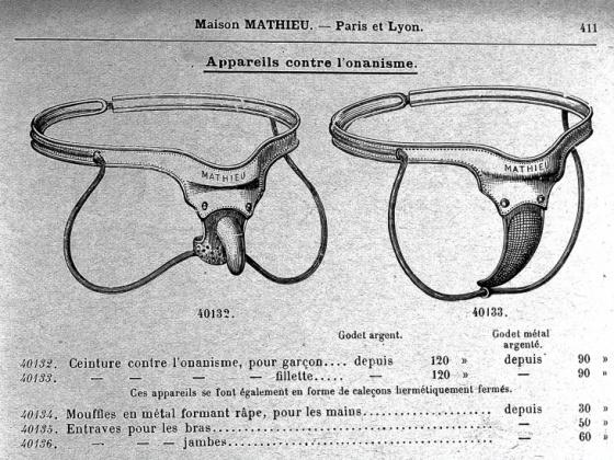 Cinturones de castidad para evitar la masturbación. / Wellcome Library