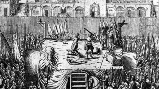 Grabado de la muerte de Egmont y del conde de Hornes