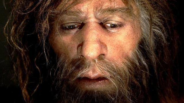 ARCHIVO Reproducción hiperrealista de un hombre de Neandertal