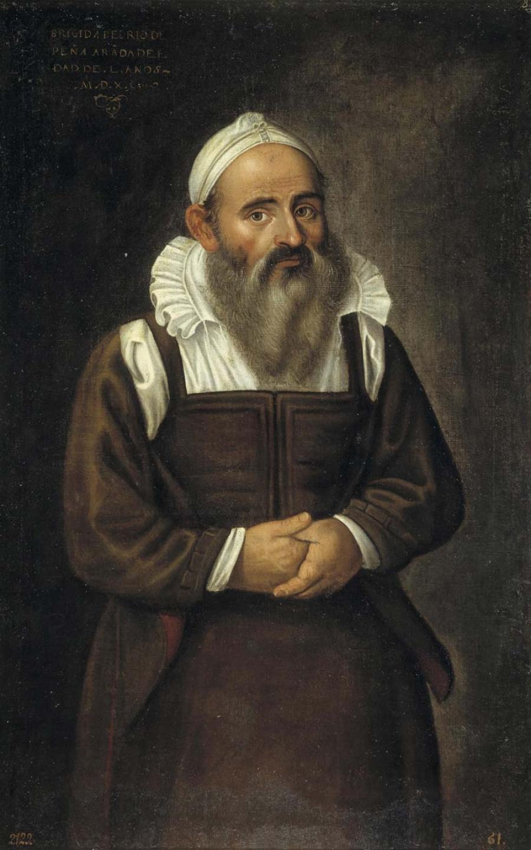 """""""Brígida del Río, la barbuda de Peñaranda"""" (1590), de Juan Sánchez Cotán."""
