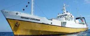 El Odyssey Explorer, buque de 76 metros de eslora que la compañía Odyssey, con sede en Florida, utiliza para localizar pecios. OME