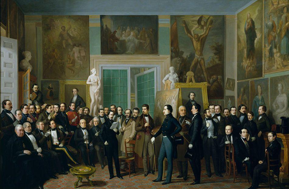 José María Queipo de Llano y Ruiz de Sarabia retratado en Los Poetas contemporáneos por Antonio María Esquivel 1846 - Museo del Prado, Madrid