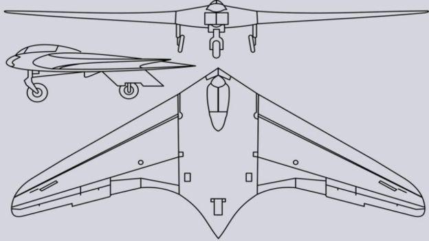 Los Horten se inspiraron en las ideas de Frederich Lippisch, pionero de las aeroanves con ala delta.
