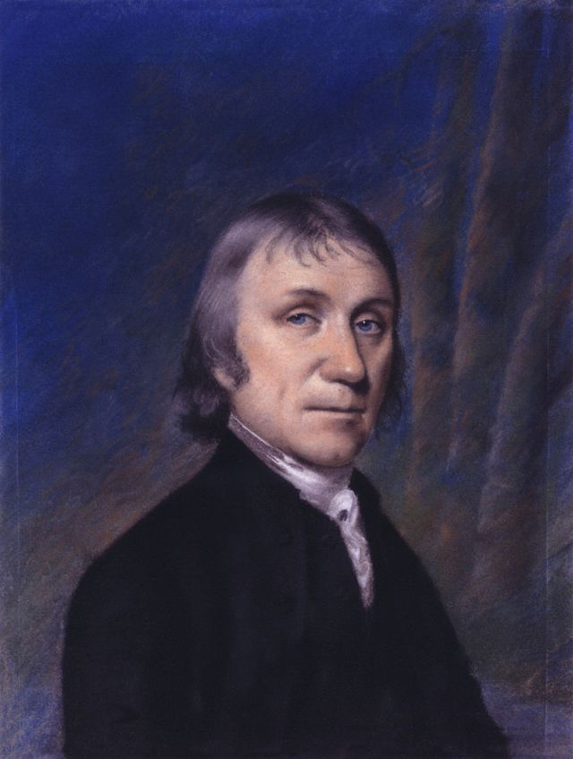 Joseph Priestley, retratado por Ellen Sharples (1794).