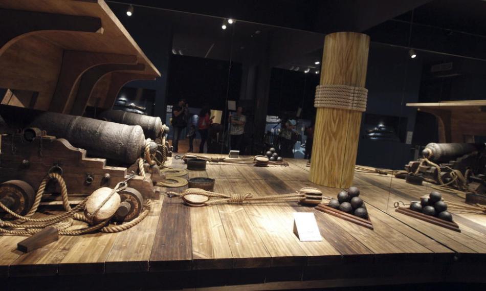 El museo naval exhibe parte del patrimonio recuperado de la fragata 'nuestra señora de las mercedes'