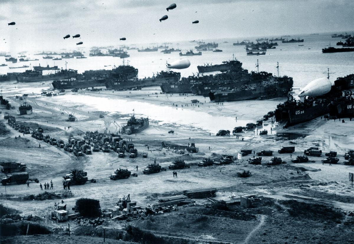 na foto del desembarco en Normandía (6 de junio 1944): el 'evento fue uno de los momentos clave en el curso del conflicto.