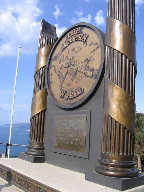 Monumento a las Columnas de Hércules, en el Territorio Británico de Ultramar de Gibraltar.