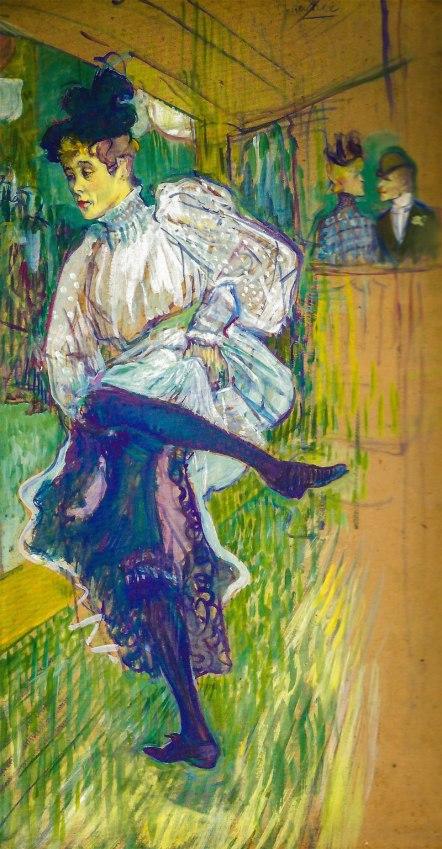 Avril danza Jane (1892, Henri de Toulouse Musée d'Orsay , París)