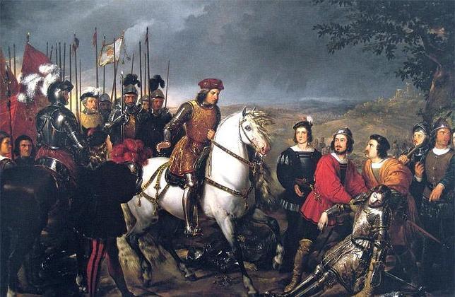 El«Gran Capitán» durante la batalla de Ceriñola frente al cuerpo sin vida del francés Luis de Armagnac
